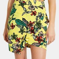 Guess Women's Skirt Yellow Size Medium M Asymmetrical Ruffle Floral 69 619 Photo
