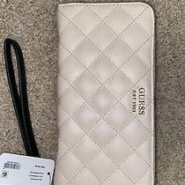 Guess Women's Sweet Candy Large Quilted Zip-Around Clutch Wallet Photo