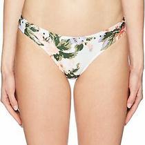 Guess Women's Swimwear White Size Large L Floral Bikini Bottom 35 722 Photo