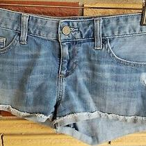 Guess Women's Sz 29 Cuffed Blue Jean Shorts W/5 Pockets Photo