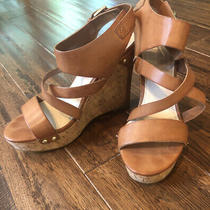 Guess Womens Tan Wedges With Buckle Size 8 Photo