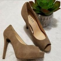 Guess Women Taupe Pump Heel Sz 8.5 Photo
