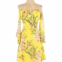 Guess Women Yellow Casual Dress Xs Photo