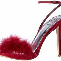 Guess Womens Avis Open Toe Ankle Strap Classic Pumps Wine Size 10.0 P394 Photo