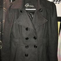 Guess Womens Charcoal Peacoat -Wool Blend Jacket/coat Sz Medium- Super Cute Photo