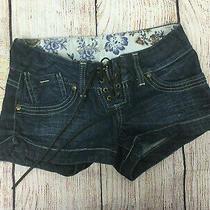 Guess Womens Denim Dark Blue Cotton Stretch Noodle Jean Shorts Size 23 Photo