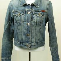Guess Womens Denim Jacket Size Xs Medium Wash Cotton Button - X87 Photo