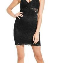 Guess Womens Dress Black Size Xs Sheath Lace Illusion Cutout Front 89 518 Photo