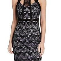 Guess Womens Dress Classic Black Size 10 Sheath Cutout Lace Illusion 128- 208 Photo