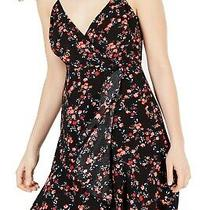 Guess Womens Dress Classic Black Size Xs a-Line Floral Print Ruffled 108 442 Photo