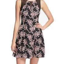 Guess Womens Dress Pink Size 2 a-Line Floral Mesh Illusion Keyhole 118- 336 Photo