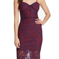 Guess Womens Dress Red Size 4 Sheath Floral Lace Corset Bodycon  128 013 Photo