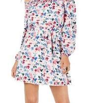 Guess Womens Dress White Size Xl a-Line Floral Smock Off Shoulder Mini 108 243 Photo