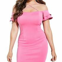Guess Womens Dresses Pink Size Large L Sheath Off-Shoulder Stretch 89- 045 Photo