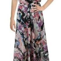 Guess Womens Femme Petale Maxi Dress Black Pink Size Xs Floral Blouson 178 548 Photo