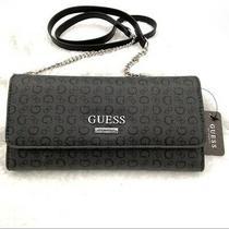 Guess Womens Grey Mcgill Mini Clutch Wallet W/ Strap Organizer Billfold Nwt Photo
