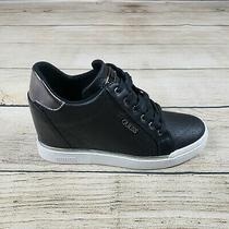 Guess Womens Gw Flowurs Black Hidden Heel Sneaker Size 10 New With Box Photo