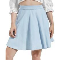Guess Womens Heidi Blue Circle Chambray Casual Mini Skirt M Bhfo 7378 Photo
