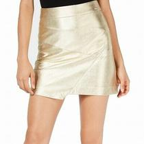 Guess Womens Hester Skirt Gold Size 25 Asymmetrical Shimmer Stretch 79 332 Photo