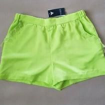 Guess Womens Izabella Green Lace Trim High Rise Mini Shorts Size M New Photo