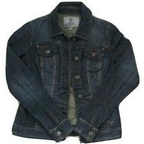 Guess Womens Jean Jacket Size S/p Denim Blue  Photo
