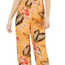 Guess Womens Jumpsuit Classic Light Yellow Size 0 Cold Shoulder Floral 69- 084 Photo