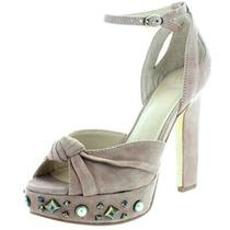Guess Womens Kenzie  Pink Suede Platform Heels Sandals 10 Medium (Bm) Bhfo 2159 Photo