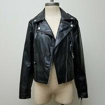 Guess Womens Ladies Faux Leather Snake Embossed Moto Jacket  Photo
