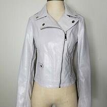 Guess Womens Ladies Faux Leather Snake Embossed Moto Jacket Size Large Photo
