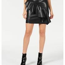 Guess Womens Lexie Flounce Mini Skirt Black 2 Photo