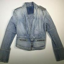 Guess Womens Medium Jean Jacket Blue Clearance New Denim  Photo