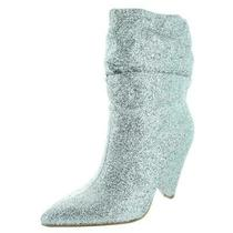 Guess Womens Nakitta Silver Mid-Calf Booties Heels 6 Medium (Bm) Bhfo 4972 Photo