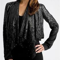 Guess Womens Nwt 128  Sequin Cardigan Jacket Metallic Size S Photo