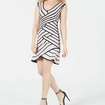 Guess Womens Pink Size Xl Tiered Seamed Tulip Hem Bandage Dress 148 183 Photo
