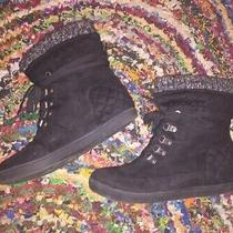 Guess Womens Quilted Puck Lace Up Black Sneaker Boots Size 8 Shoes Boot Juniors Photo