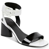 Guess Womens Saloni Open Toe Casual Ankle Strap Sandals White/black Size 8.5 7 Photo