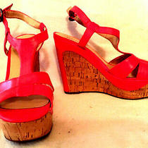 Guess Womens Shoes Wedge Sandal  Orange Size 8 Photo