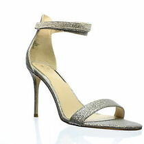 Guess Womens Silver Ankle Strap Heels Size 9.5 (1187014) Photo