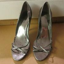 Guess Womens Silvertone Sandals Worn & in Great Condition See Pics  Photo