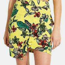 Guess Womens Skirt Bright Yellow Size Large L Asymmetrical Floral 69 618 Photo