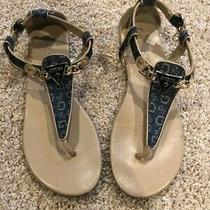 Guess Womens Sz 9 M Blue Sandals Nice  H507398 Photo