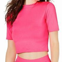 Guess Womens Top Classic Fuschia Pink Size Medium M Knit Suba Logo 39 336 Photo