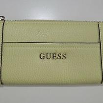 Guess Womens Wallet Purse Sponge New Faux Leather Large Big Yellow Summer New 48 Photo