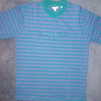 Guess X Asap Rocky David Reactive Striped T Shirt Green/purple Sz Small Aap Mob Photo