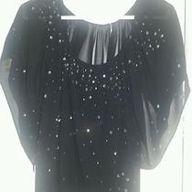 Guess Xs Black Blouse Top With  Diamond Studs Photo
