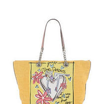 Guess Yellow Multi Fashion Illustrated Lover Girl Carryall Hand Bag Brand New Photo