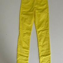 Guess Yellow Skinny Pants High Rise  Size 26 S Photo