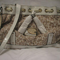 Guess Zambia Leopard Print Jacquard Tote/satchel/bag  Photo