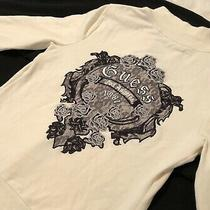 Guess Zip Up Hoodie. Cremecolor Size L. Lace Logo. Beautiful Only Worn Once. Photo