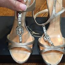 Guiseppe Zanotti T- Strap Jewel Encrusted Heels/shoes Wedding Shoes Photo